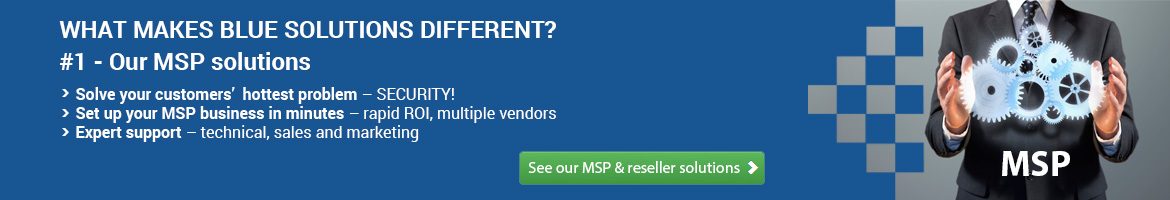 Banner - What Makes Blue Solutions Different? #1 - Our MSP solutions